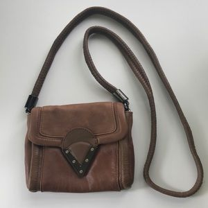 PLV leather crossbody purse